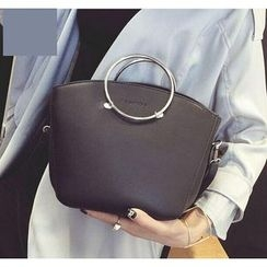 Youshine - Metal Ring Handle Handbag