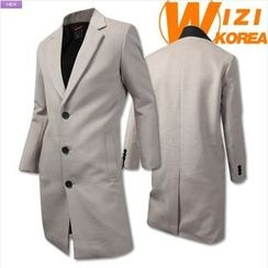 WIZIKOREA - Single-Breasted Coat