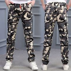 Pegasus - Kids Camo Drawstring Pants