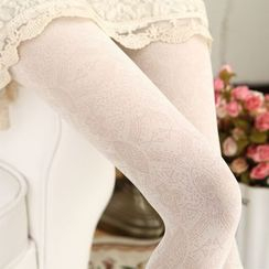 Cappuccino - Patterned Tights