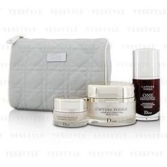 Christian Dior - Capture Totale Deep Global Age-Defying Day Ritual Set: Multi-Perfection Creme 60ml + One Essential 30ml + Eye Treatment 15ml + Bag