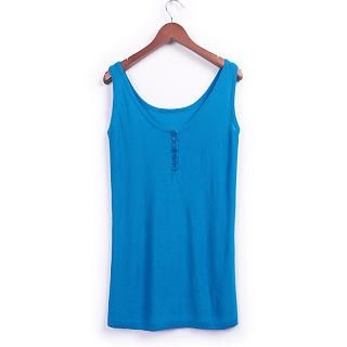 JK2 - Button-Front Knit Tank Top