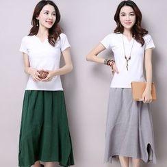 GLIT - Asymmetric Midi Skirt