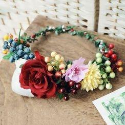 Roseline - Floral Tiara