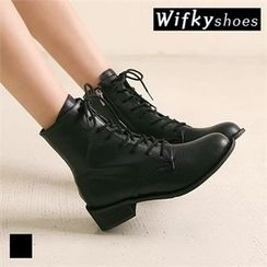 Wifky - Lace-Up Short Boots