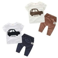 WellKids - Kids Set: Printed T-Shirt + Pants