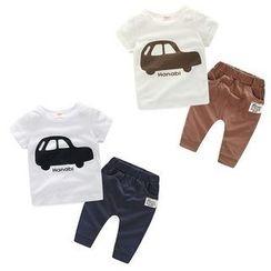 WellKids - 小童套装:印花T恤 + 裤子