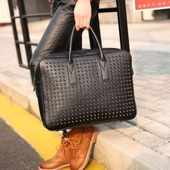 BagBuzz - Studded Faux Leather Briefcase