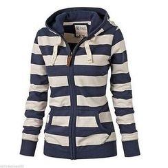 HOTCAKE - Stripe Hooded Jacket
