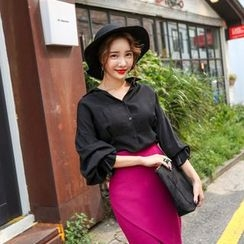 PPGIRL - Drop-Shoulder Puff-Sleeve Shirt