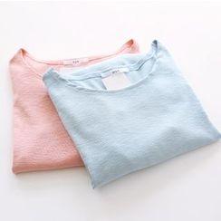 Bonbon - Plain Long-Sleeve T-Shirt