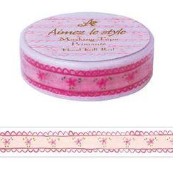 Aimez le style - Aimez le style Masking Tape Primaute Regular Floral Frill Red