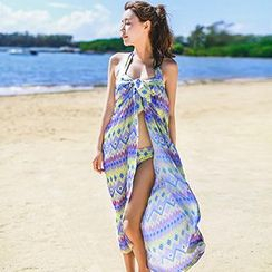 Little Dolphin - Set: Patterned Bikini + Cover-Up