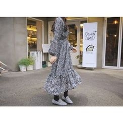 Envy Look - Patterned A-Line Long Dress