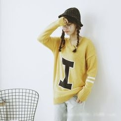 Polaris - Letter Knit Top