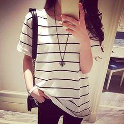 Tiny Times - Striped Short Sleeve T-Shirt
