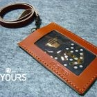 YOURS - Customizable Genuine Leather ID Holder with Strap