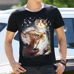 T Empire - Printed Short-Sleeve T-shirt
