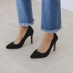 JUSTONE - Pointy-Toe Faux-Suede Stilettos
