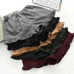 Moricode - 荷葉邊短褲