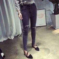 Cerauno - Distressed Skinny Jeans
