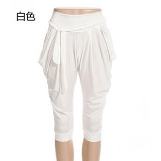 Ando Store - Tie-Waist Cropped Harem Pants