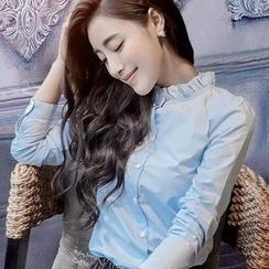 Daybreak - Frill Collar Long-Sleeve Shirt