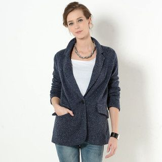 YesStyle Z - Single-Button Long Blazer