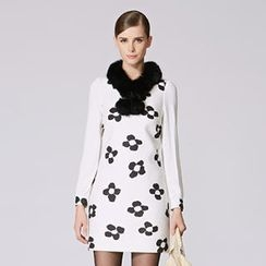 O.SA - Long-Sleeve Flower-Print Dress