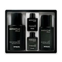 IPKN - Manhattan Black Set: Aqua Soothing Skin 130ml + Age Refirm Essence 110ml