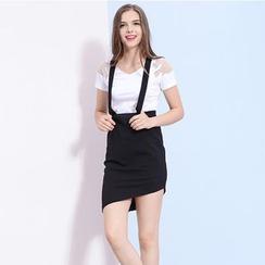 ZDORZI - Asymmetric Suspender Skirt