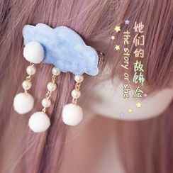 AOI - Snowing Cloud Hair Clip