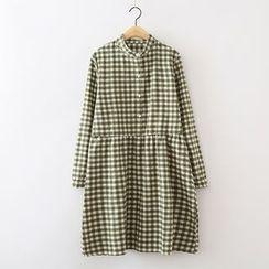 ninna nanna - 格子長袖連衣裙