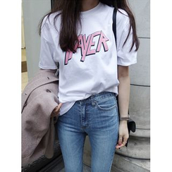 maybe-baby - Crew-Neck Printed T-Shirt