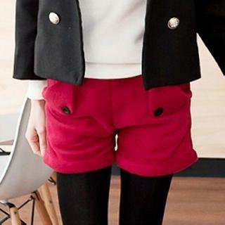 Tokyo Fashion - Flap-Detail Fleece Shorts