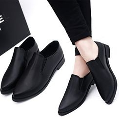 BARCA - Faux Leather Pointy Loafers