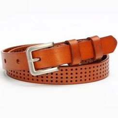 HANYI - Genuine-Leather Cutout Belt