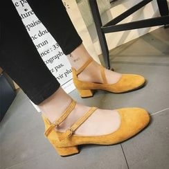 Yoflap - Strapped Mary Jane Shoes