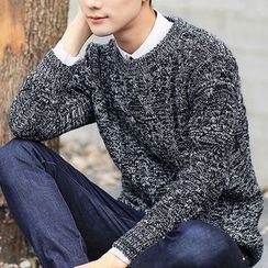 Really Point - Melange Cable Knit Sweater