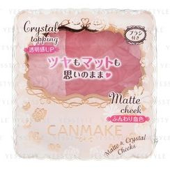 Canmake - Matte and Crystal Cheeks (#03 Juicy Strawberry)