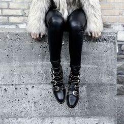 Chryse - 铆钉扣带短靴