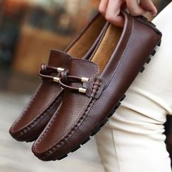 BINSHOU - Genuine-Leather Paneled Moccasins
