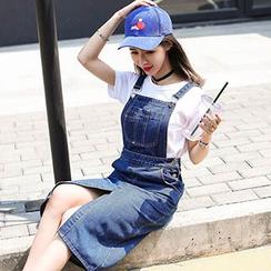 Ashlee - Denim Jumper Skirt