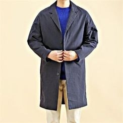 THE COVER - Drop-Shoulder Single-Breasted Coat