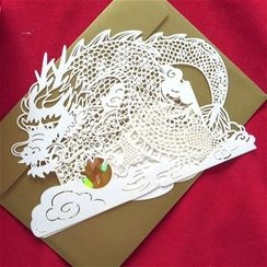 Lucky Cat - Dragon Greeting Card