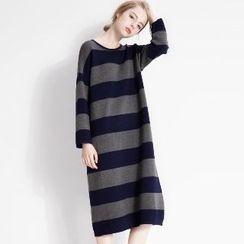 Halona - Striped Knit Dress