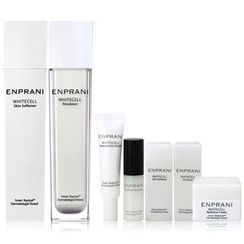 ENPRANI - Whitecell Set: Softener 160ml + 20ml + Emulsion 120ml + 20ml + Youth cell Activator 5ml + Melanin Out Serum 10ml + Cream 10ml