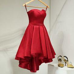 Loree - Ruffle Strap Cocktail Dress