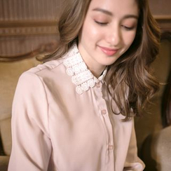Tokyo Fashion - Long-Sleeve Panel-Collar Blouse