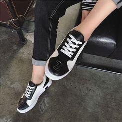 Hipsole - Color-Block Platform Lace-Up Sneakers